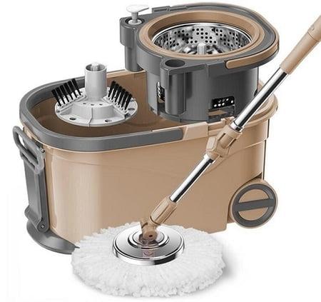 Bộ Cây Lau Nhà Xoay Tay Compact Spin Mop Lock&Lock ETM466